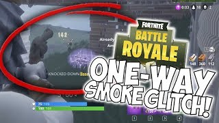 ONE-WAY SMOKE GLITCH! TEAM KILL FEED! Fortnite Battle Royale