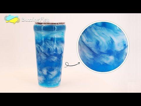🍺 Make a Epoxy Resin Tumbler, Ocean and Waves 🍻| Resin Art