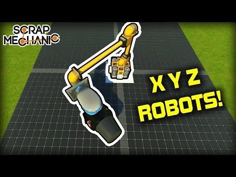 Modular Programmable 4 Axis Robotic Arm Systems! (Scrap Mechanic Gameplay)