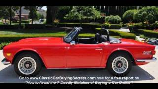 1972 Triumph TR-6 Classic Muscle Car for Sale in MI Vanguard Motor Sales