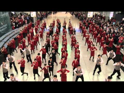 Cathay Pacific Flashmob @ HKIA 2013