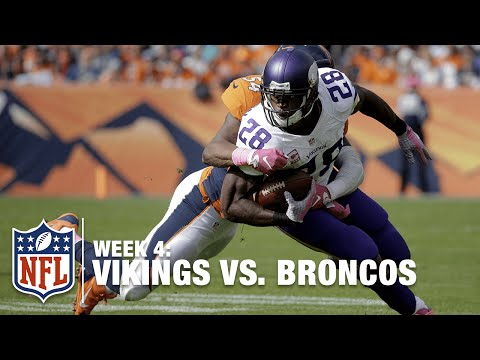 Adrian Peterson Explodes for a 48-Yard TD! | Vikings vs. Broncos | NFL