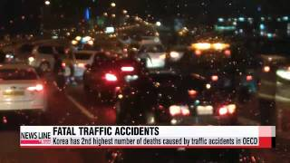 Korea has 2nd highest number of deaths caused by traffic accidents in OECD