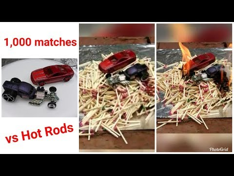 1000 matches vs two toy cars 🔴