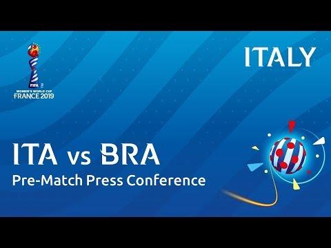 ITA v. BRA - Italy - Pre-Match Press Conference