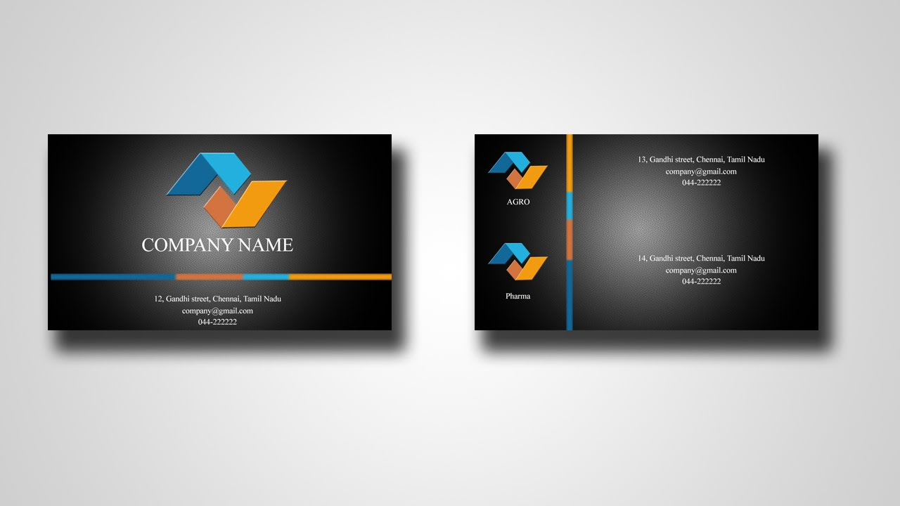 Ps design a simple business card in photoshop youtube reheart Gallery