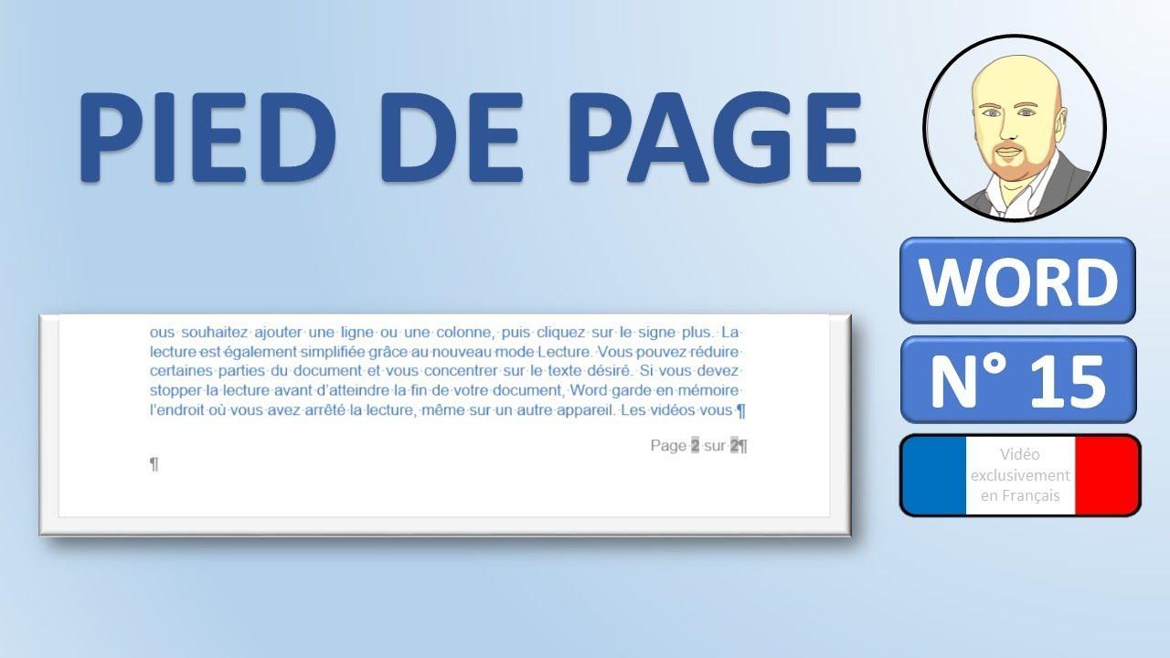 word 15 - comment faire un ent u00eate et pied de page