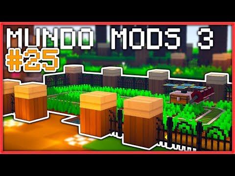 DECORANDO NUESTRO JARDÍN   #25   MUNDO MODS 3   Minecraft Survival