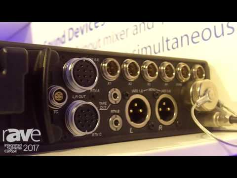 ISE 2017: Dan Dugan Features Sound Devices 688 Field Audio Recorder With Dan Dugan Automixing