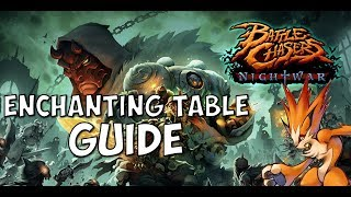 Battle Chasers Nightwar Enchanting Table Guide