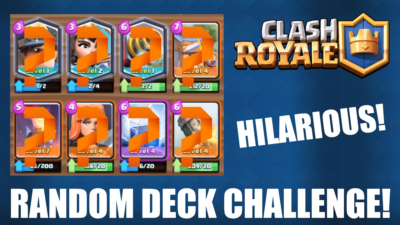 Clash royale random deck challenge awesome for Clash royale deck molosse