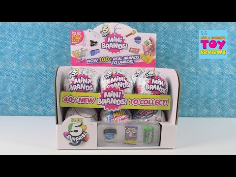 5 Surprise Mini Brands Tiny Shopping Brands Blind Bag Opening Review | PSToyReviews