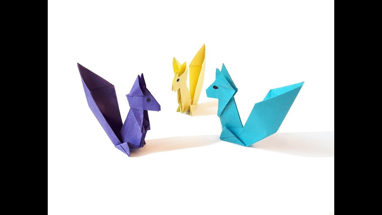 Origami squirrel time lapse youtube jeuxipadfo Choice Image