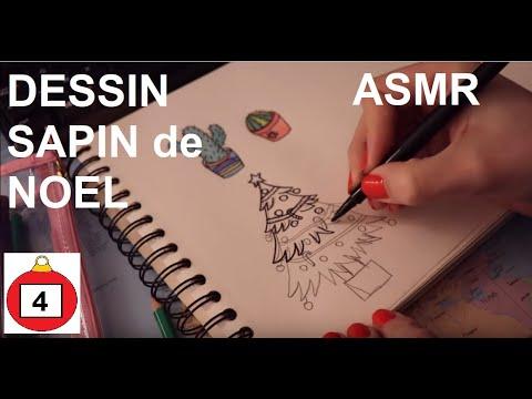 Asmr Français Dessin Et Coloriage De Sapin De Noël