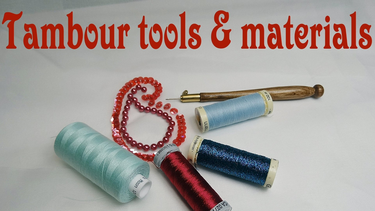 Hand embroidery tambour embroidery tools materials for Waste material hand work