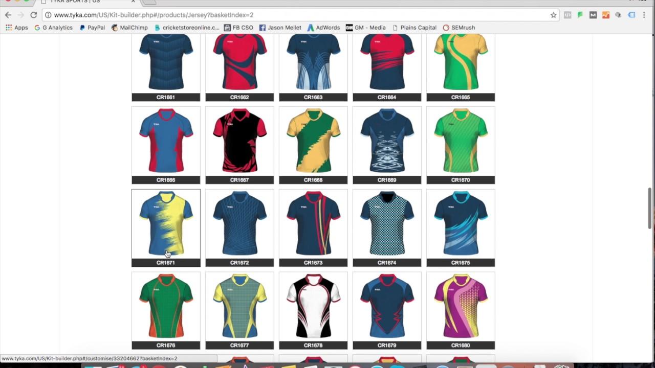ecfe6dea0fb Custom T20 Color Cricket Uniforms - YouTube