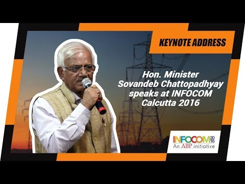 Sovandeb Chattopadhyay, Minister , Government of West Bengal at INFOCOM Calcutta 2016