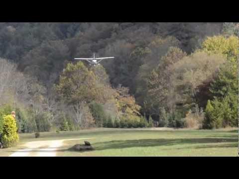 Big Creek Flying Ranch Cessna 206 Landing