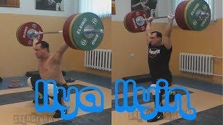 Ilya Ilyin KAZ weightlifting training session