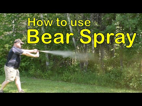 Bear Safety Part 2: Bear Spray And How To Use It!