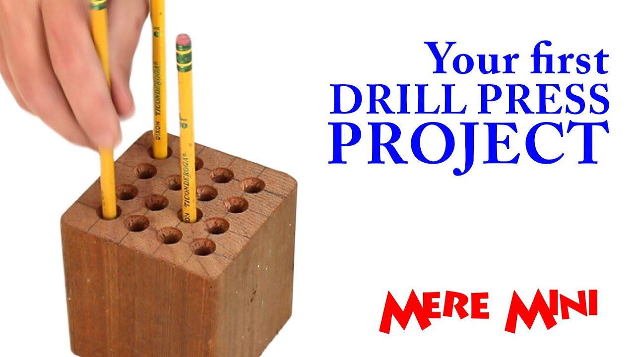 Drill press pencil holder | Mere Mini
