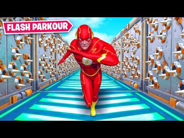 100 Level FLASH Deathrun in Fortnite Creative (Speed Parkour)
