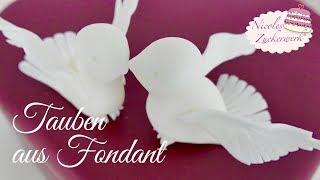 Tutorial TAUBEN aus FONDANT  herstellen I Hochzeitstorten  Deko I  DIY