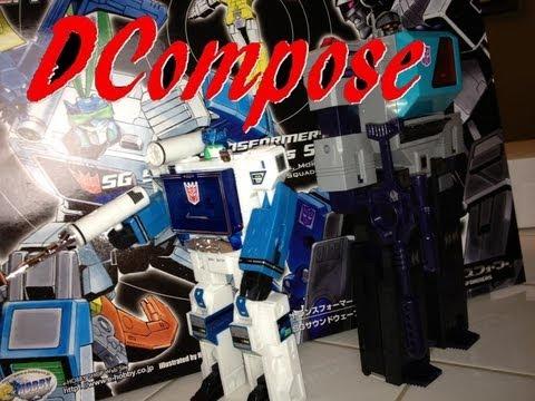 Transformers Shattered Glass G1 Soundwave Vs Blaster