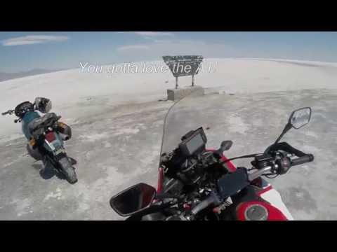Africa Twin maiden adventure trip Pt 3 - unofficial salt flats speed record and IDBDR