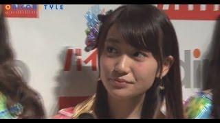 人気アイドルグループ・AKB48の渡辺麻友(19)、高橋みなみ(22)、大島優子(25)、小嶋陽菜(25)が25日、都内で行われた求人サイト『バイトル...