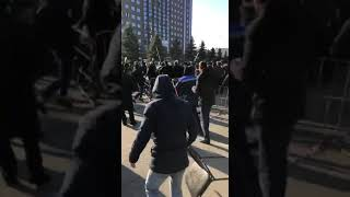 Попытка силового разгона митинга в Магасе, Ингушетия. утро 27 марта 2019 г