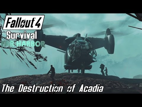 The Destruction of Acadia [Brotherhood of Steel] - Fallout 4 Survival Far Harbor [Alternate Ending]