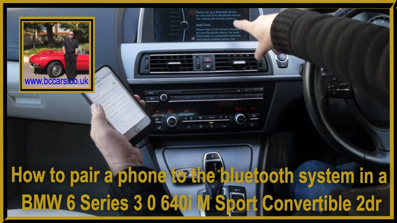 how to pair a phone to the bluetooth system in a bmw 6 series 3 0 rh youtube com Vim Manual PDF Vim Manual