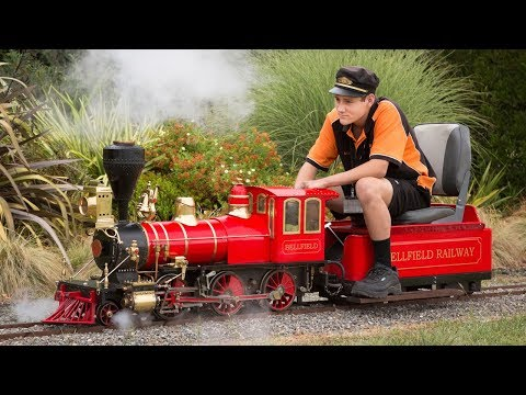 Firing up and running live steam locomotives at Nelson 2018!