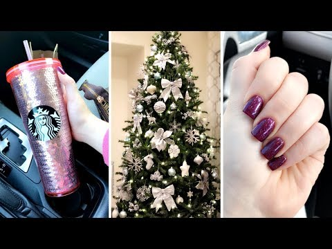 VLOG | Come Shop w. Me + Starting My Christmas Decor + Starbucks Holiday Cups