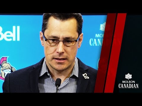 Sens vs. Bruins – Coach Pre-game