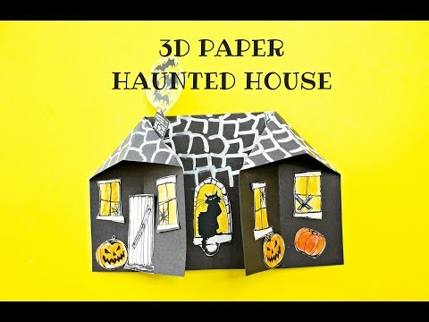 3D Paper Haunted House