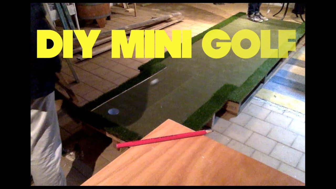 how to build a golf putting green