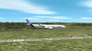 FS2002 landung in Zürich mit A340
