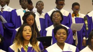 "North Bronx Ghana SDA Youth Choir singing "" He is Coming Hallelujah"""