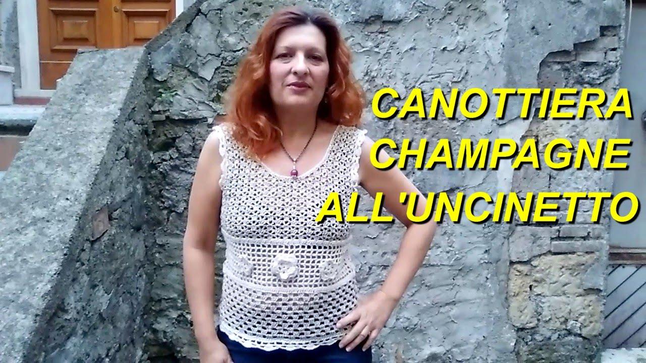 Canottiera Estiva Alluncinetto Crochet Top Tutorial For Beginners