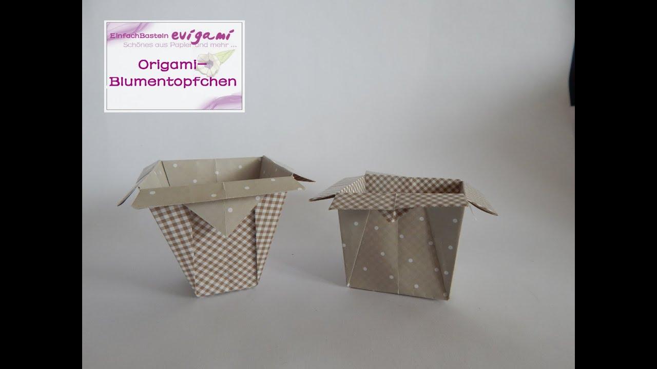 origami blument pfchen vase beh lter youtube. Black Bedroom Furniture Sets. Home Design Ideas