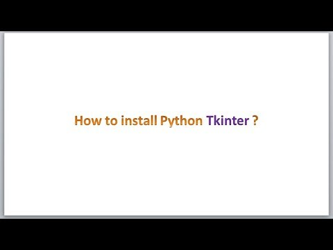 How to install Python Tkinter package ?