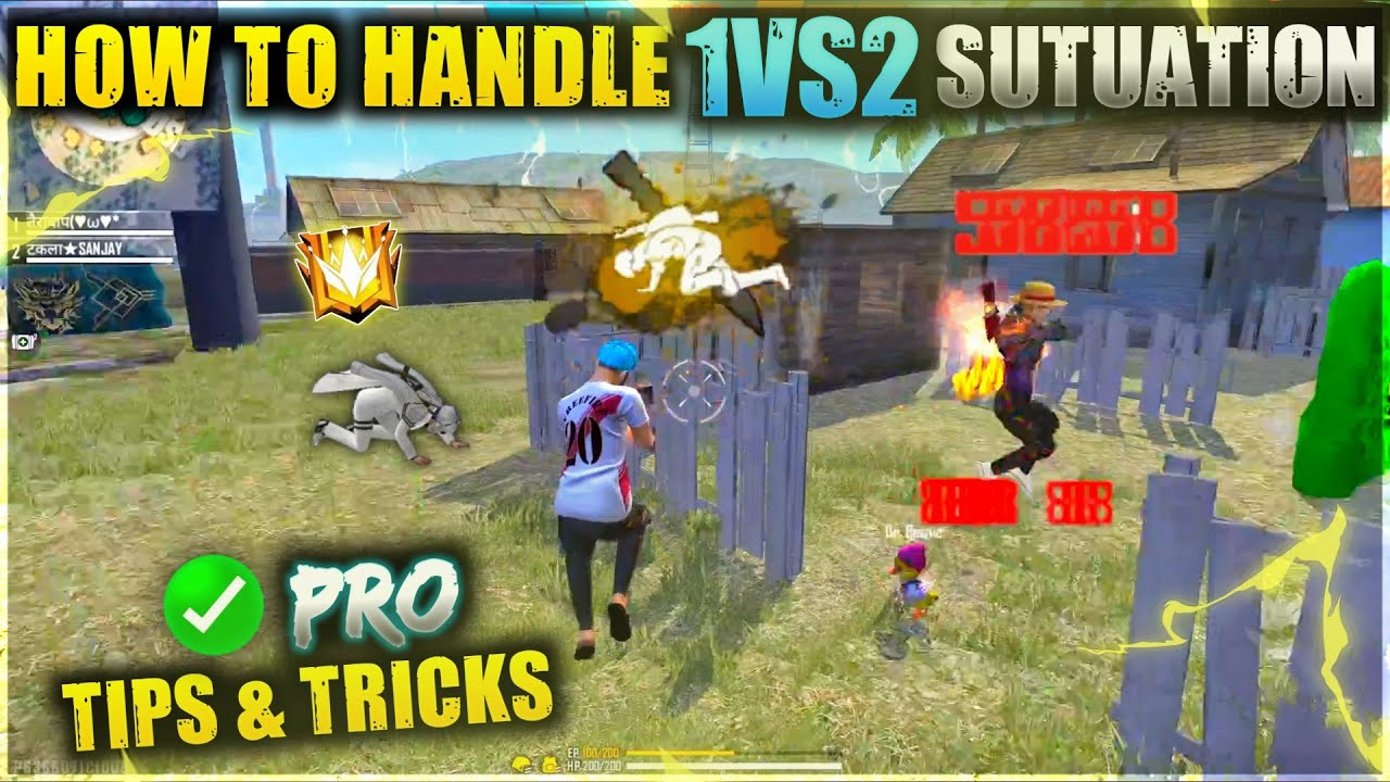 HOW TO HANDLE 1VS2 SITUATION - PRO TIPS & TRICKS   FREEFIRE