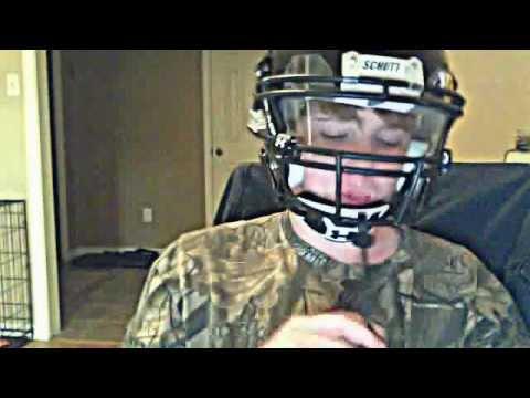 b370a74c Schutt DNA pro football helmet with an under armour visor - YouTube