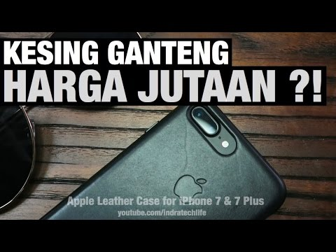 Apple Leather Case Iphone 7 Plus Black Review Indonesia