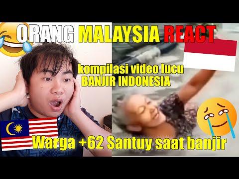 REACT VIDEO LUCU WARGA +62 SANTUY SAAT BANJIR | PALING SANTUY!! MANTAP