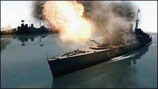 EPIC BATTLESHIP BATTLE - Men of War Battleship Mod Gameplay