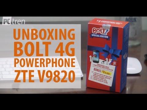 Unboxing bolt 4G powerphone ZTE V9820 PCtren.Com