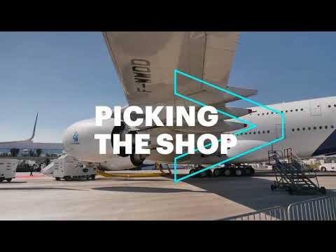 Accenture Blockchain Demo at Paris Airshow